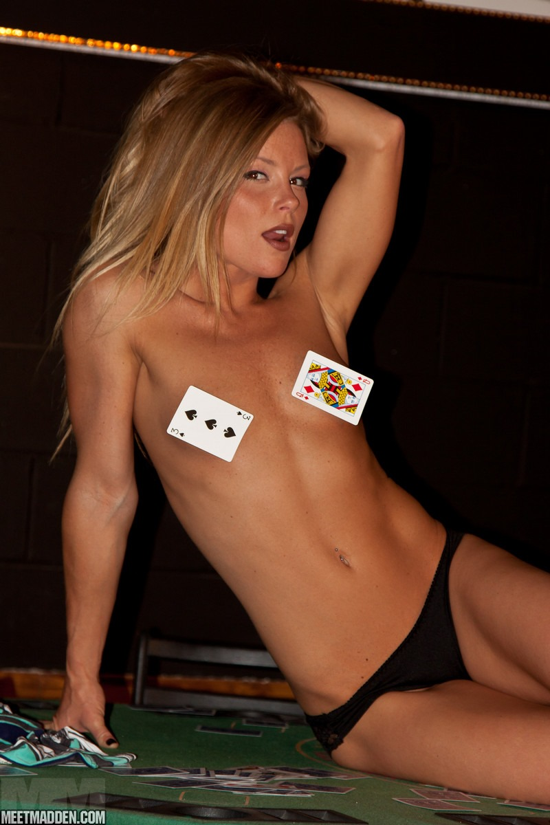 Four chicks play strip table air hockey
